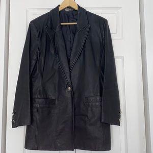 Black leather jacket 12